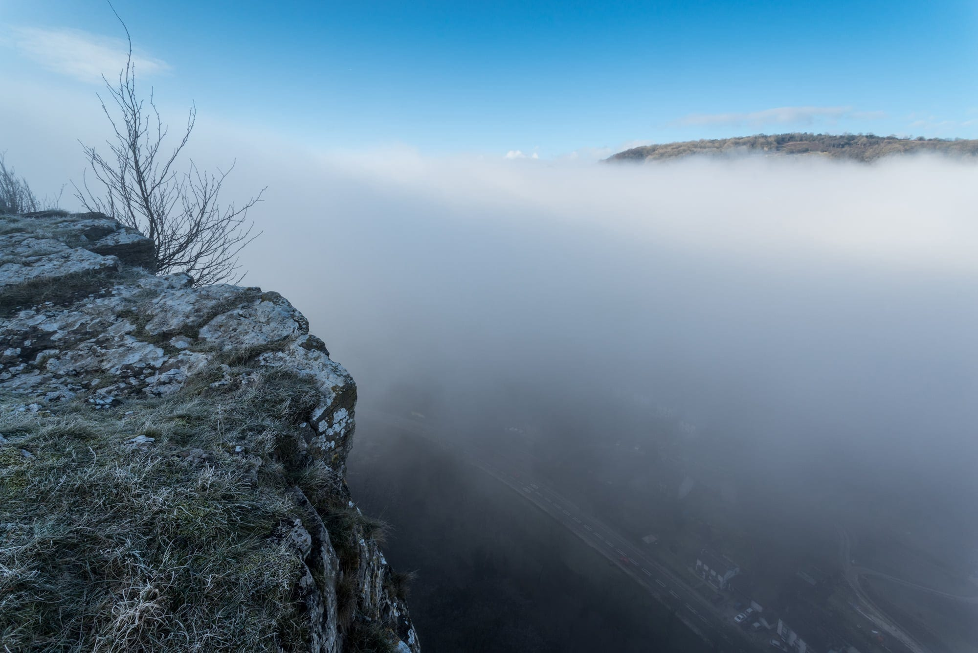 High Tor Fog - Winter in the Peak District Photography Workshop