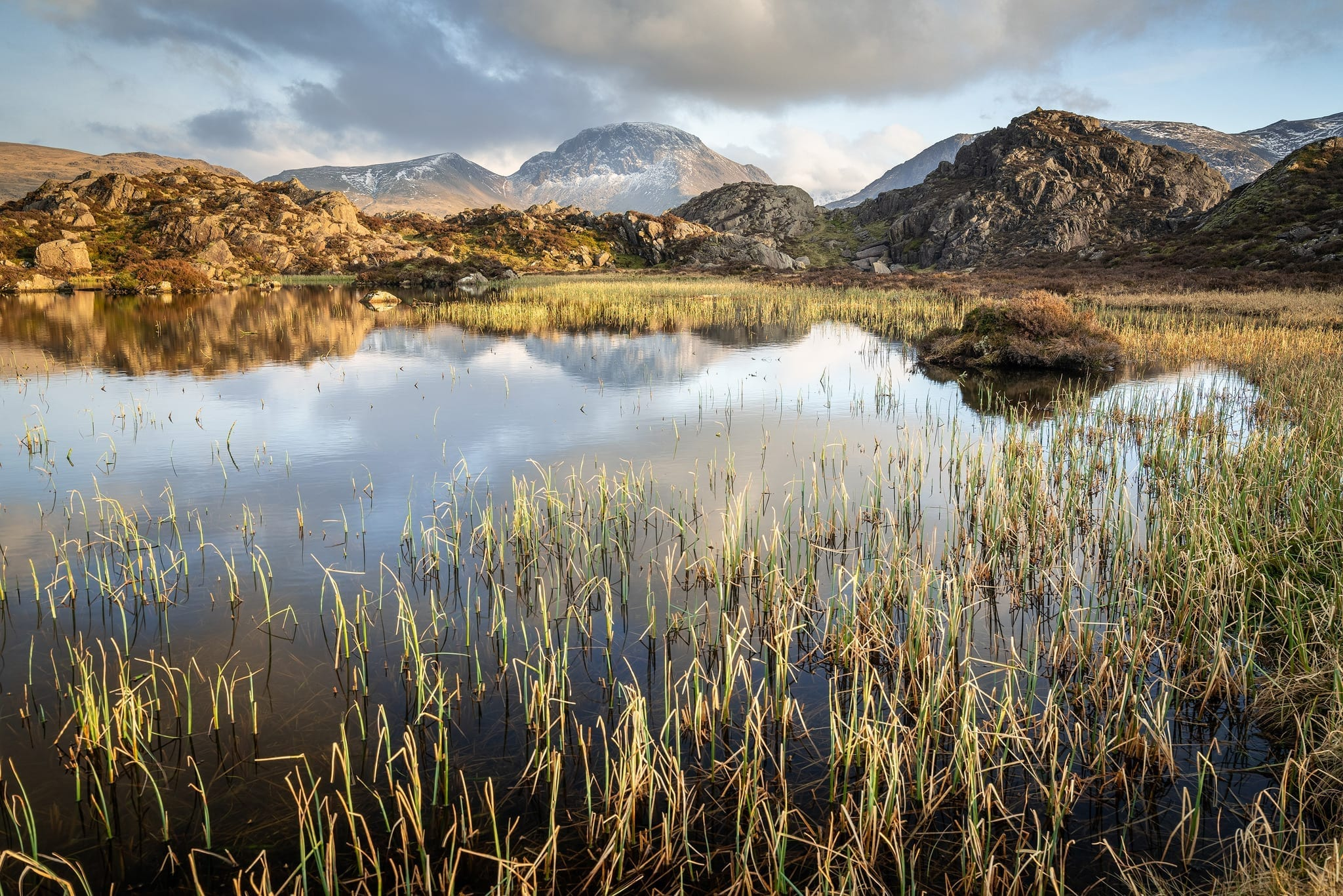Innominate Tarn Sunset - Lake District Photography Wild Camping Photography Workshop