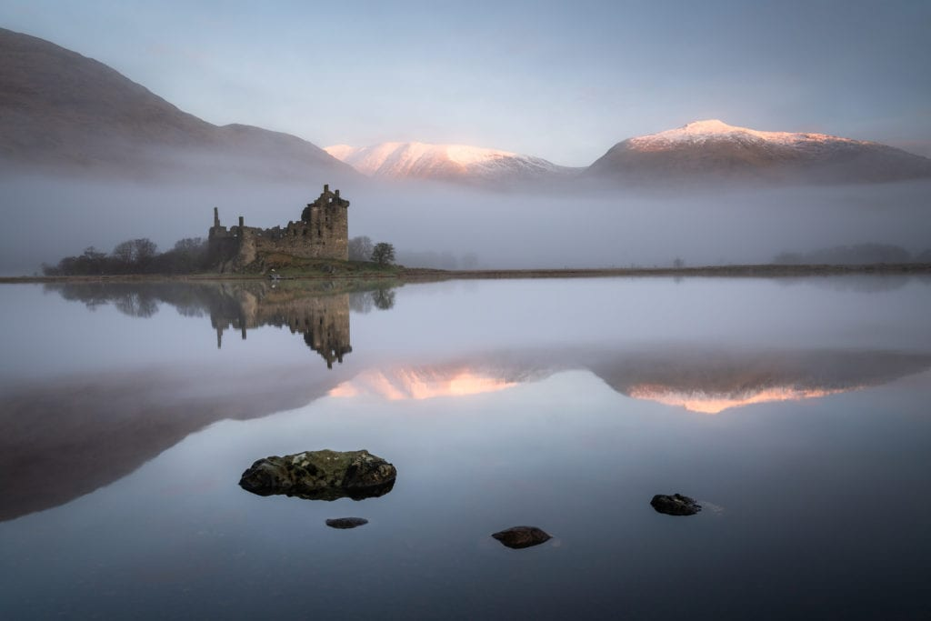 Kilchurn Castle Sunrise Reflections - Scotland Landscape Photography