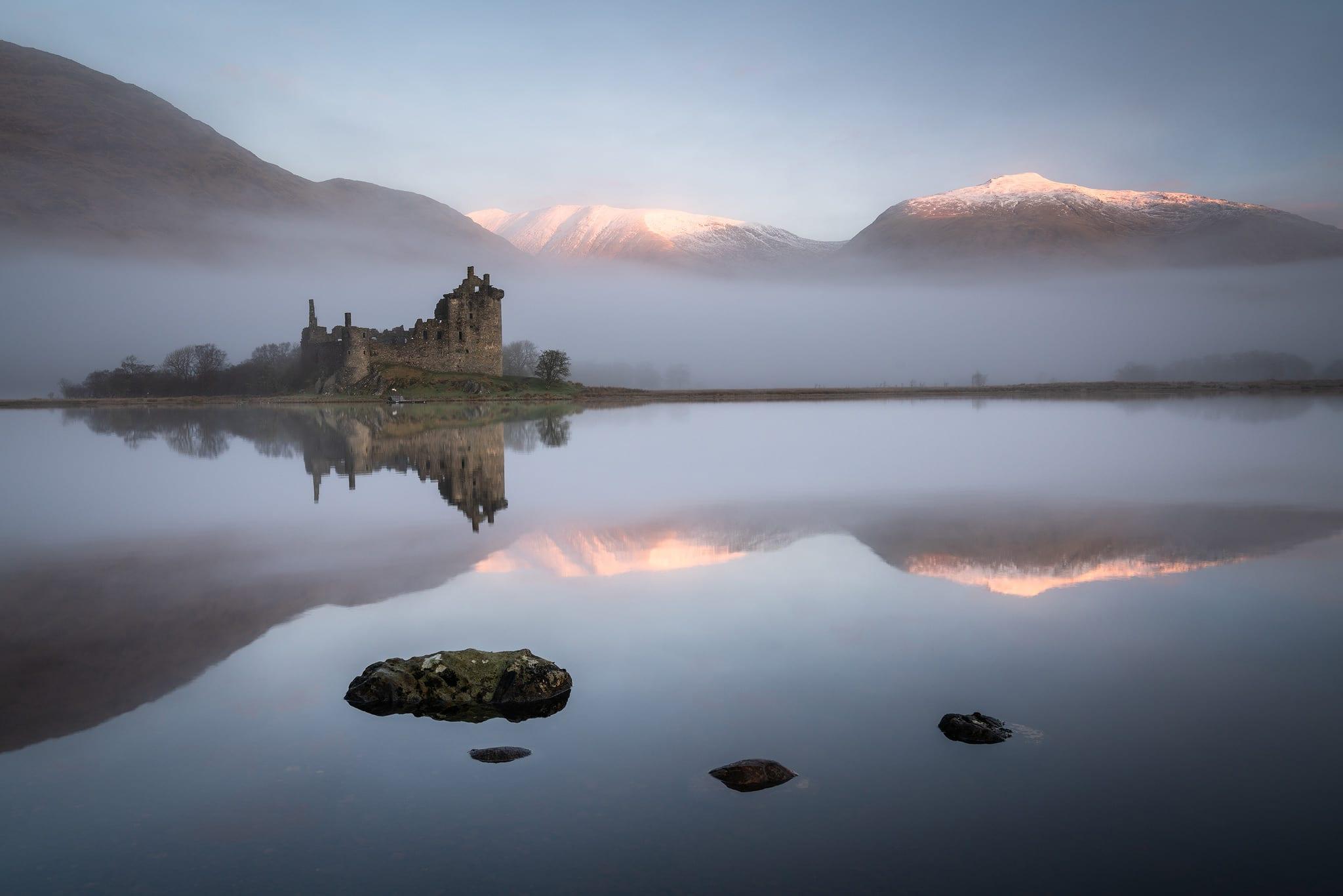 Kilchurn Castle Sunrise Reflections - Scotland Landscape Photography