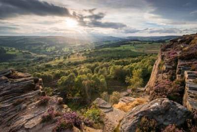 Millstone Edge Sunset - Peak District Photography