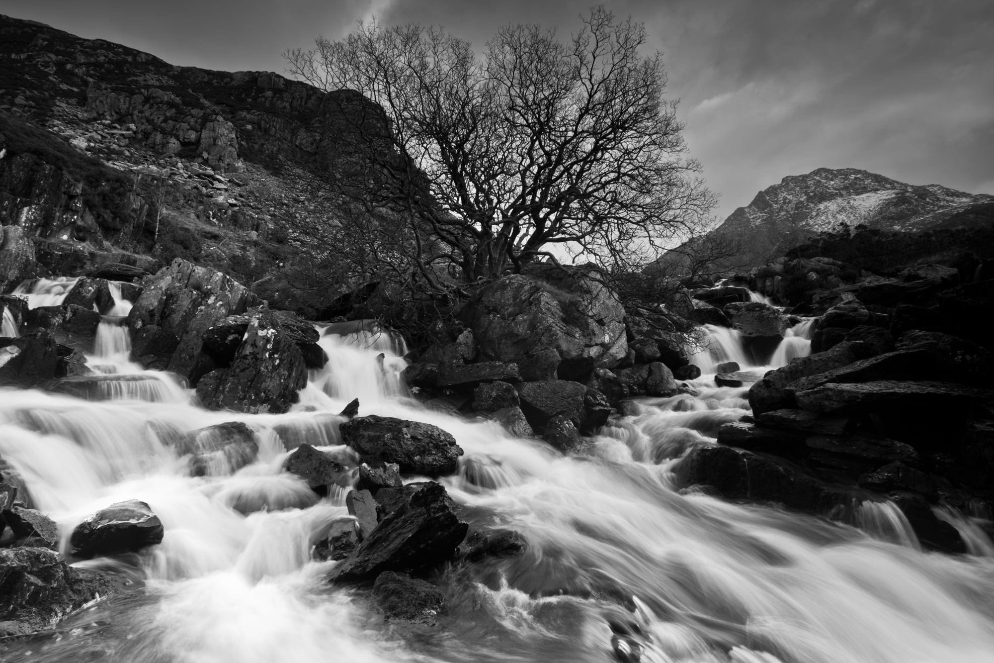 Ogwen Outflow Waterfall - Snowdonia Photography