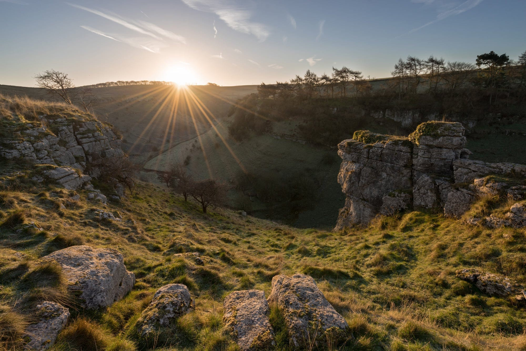 Parsons Tor Sunrise - South Peak District Limestone Photography Workshop