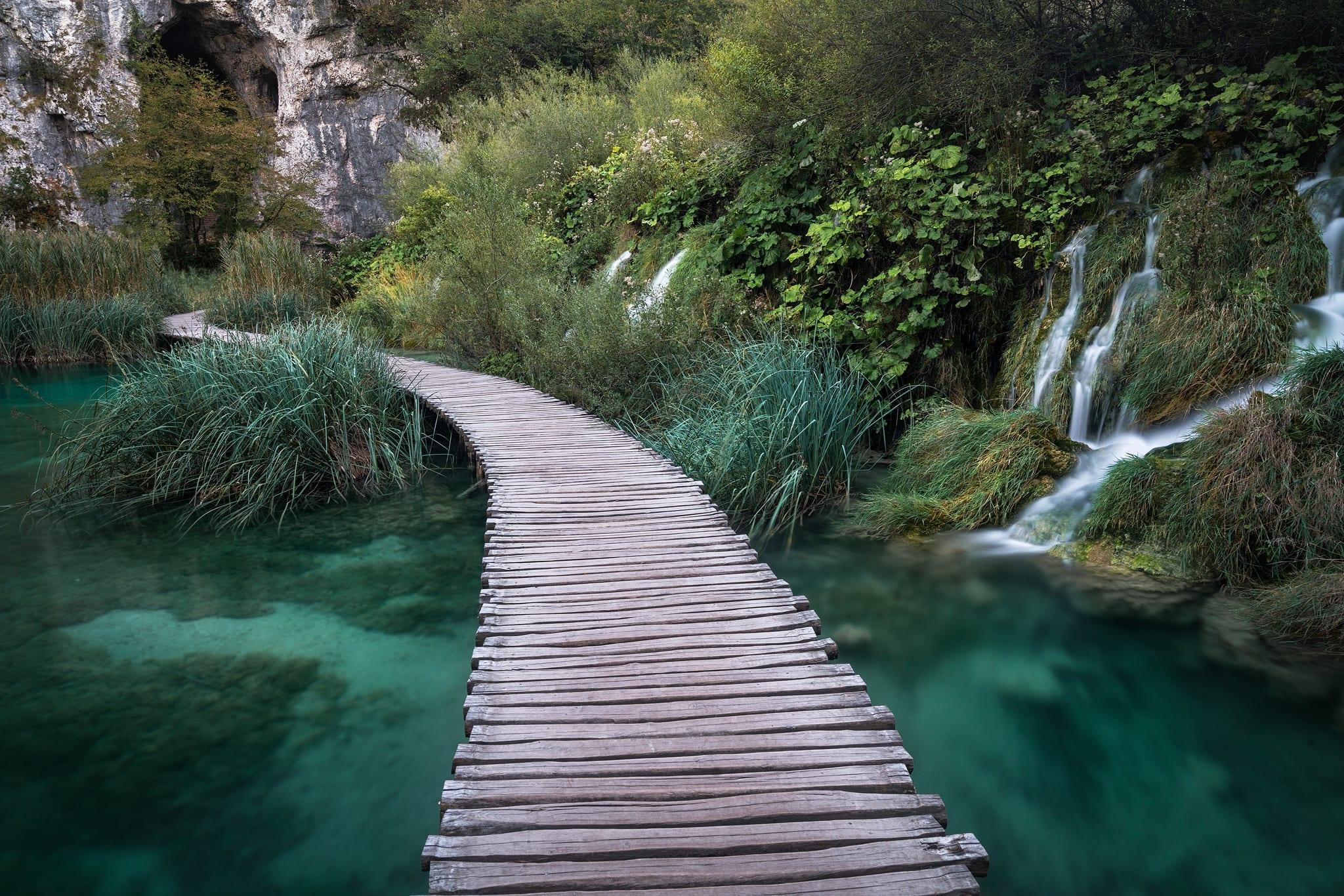 Plitvice Waterfalls Boardwalk - Croatia Photography