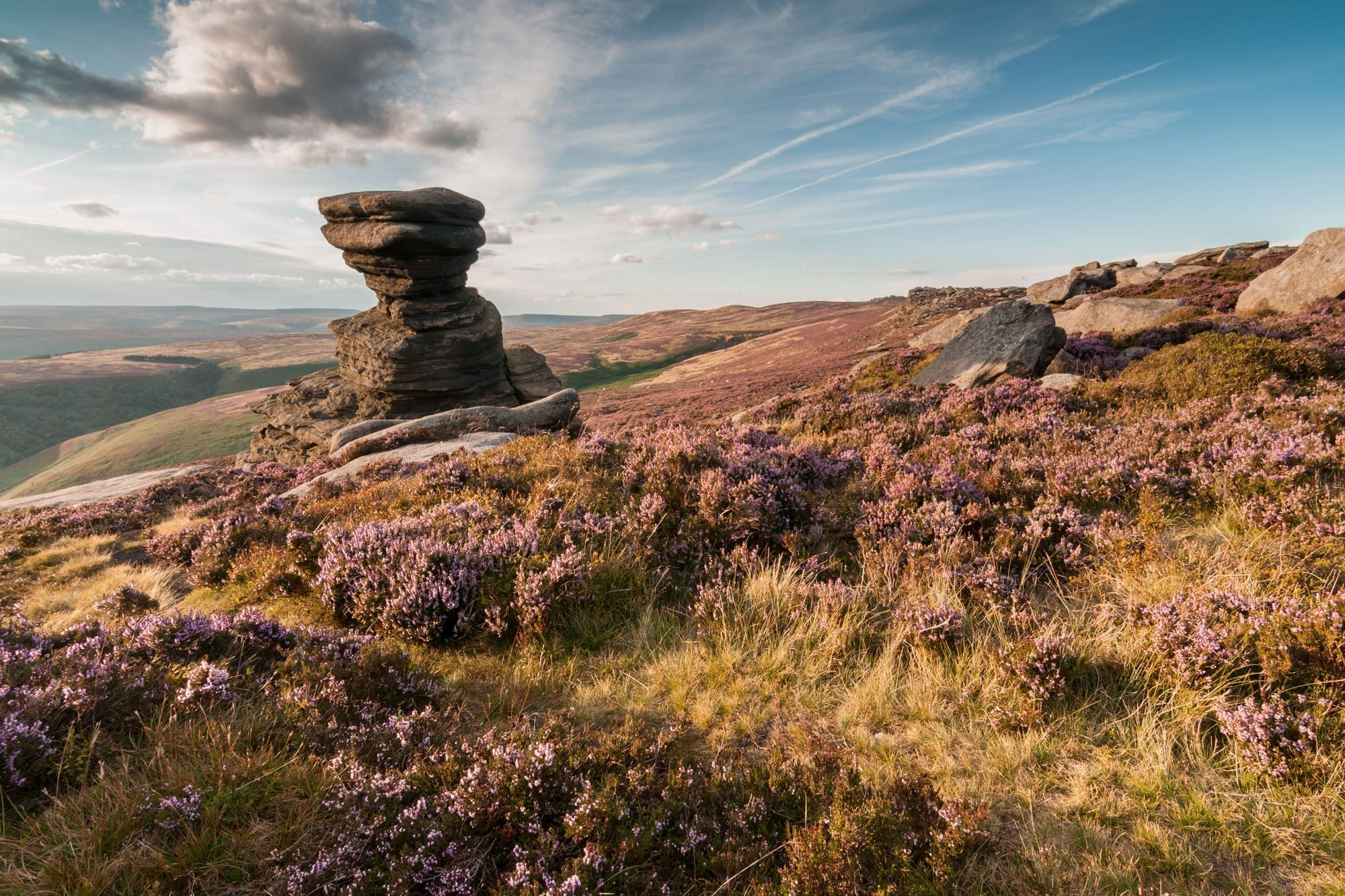 Salt Cellar - Derwent Edge - Heather in the Peak District Photography Workshop