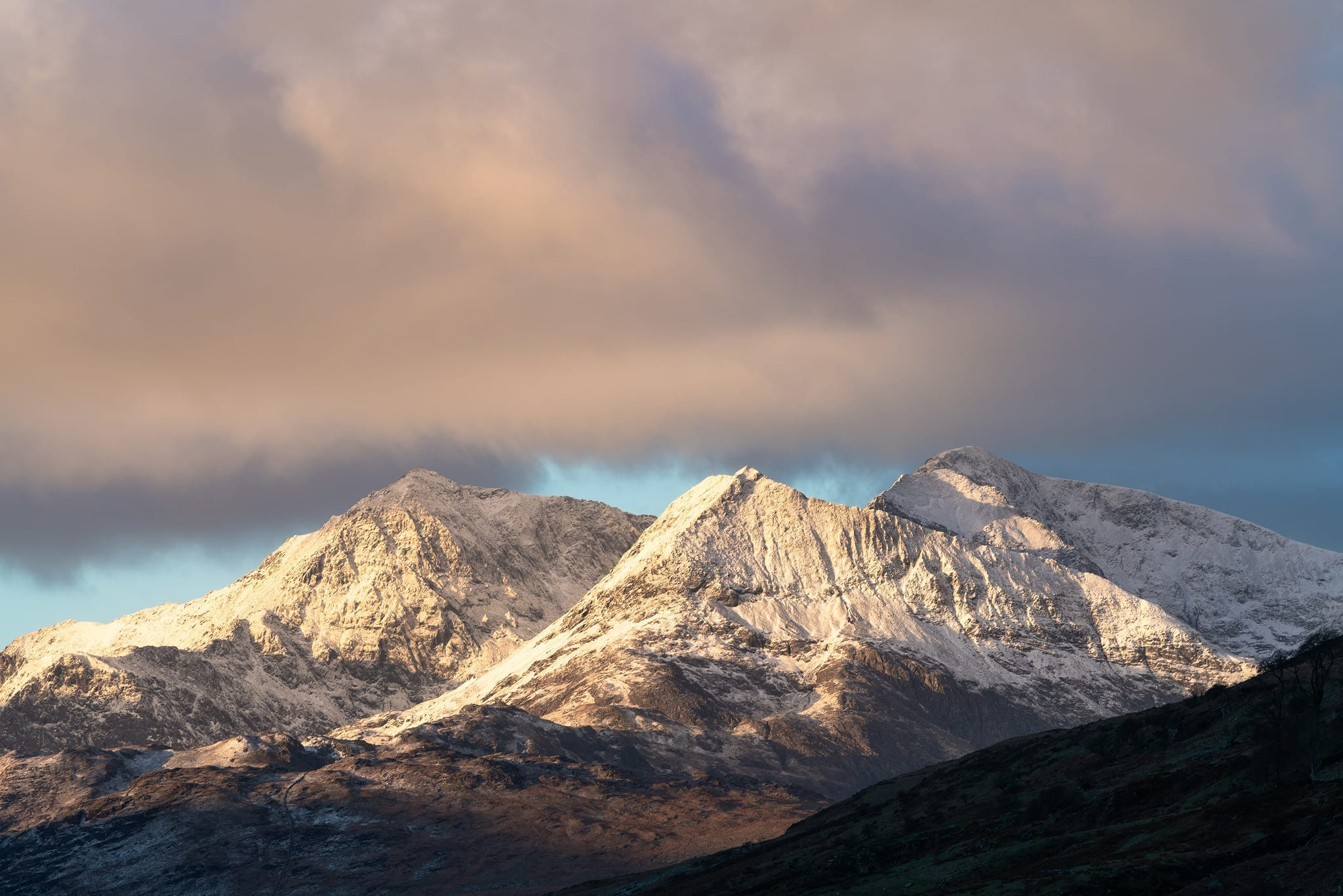 Snowdon Horseshoe in Winter - Snowdonia Landscape Photography
