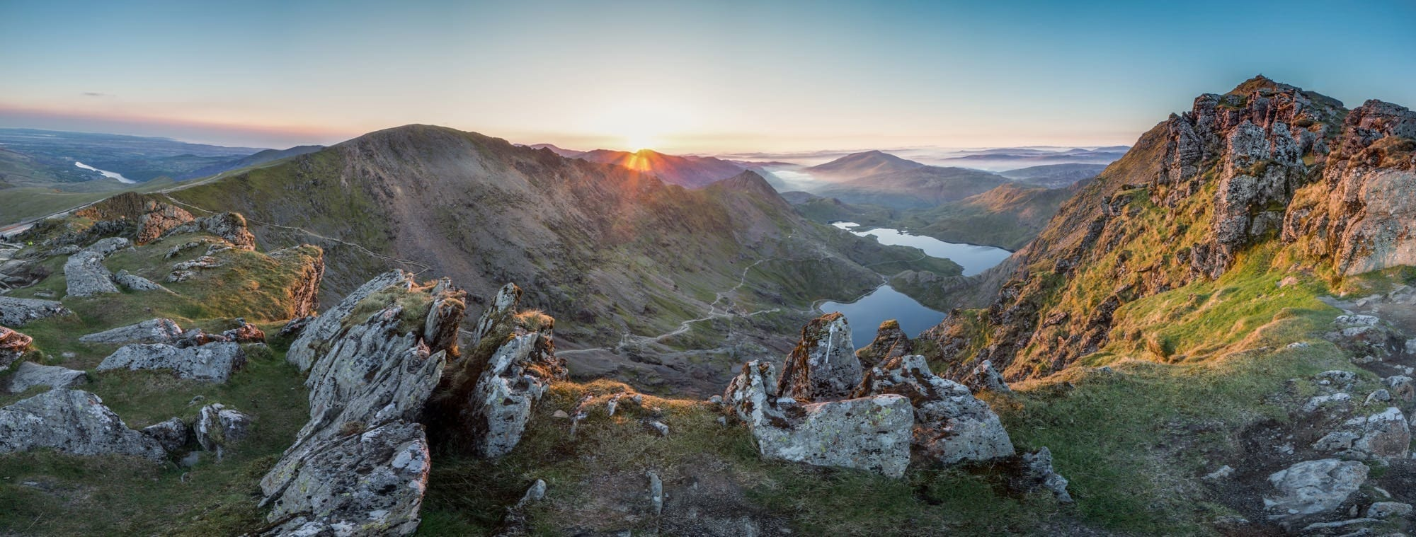 Snowdon Sunrise Panoramic - Snowdonia Photography