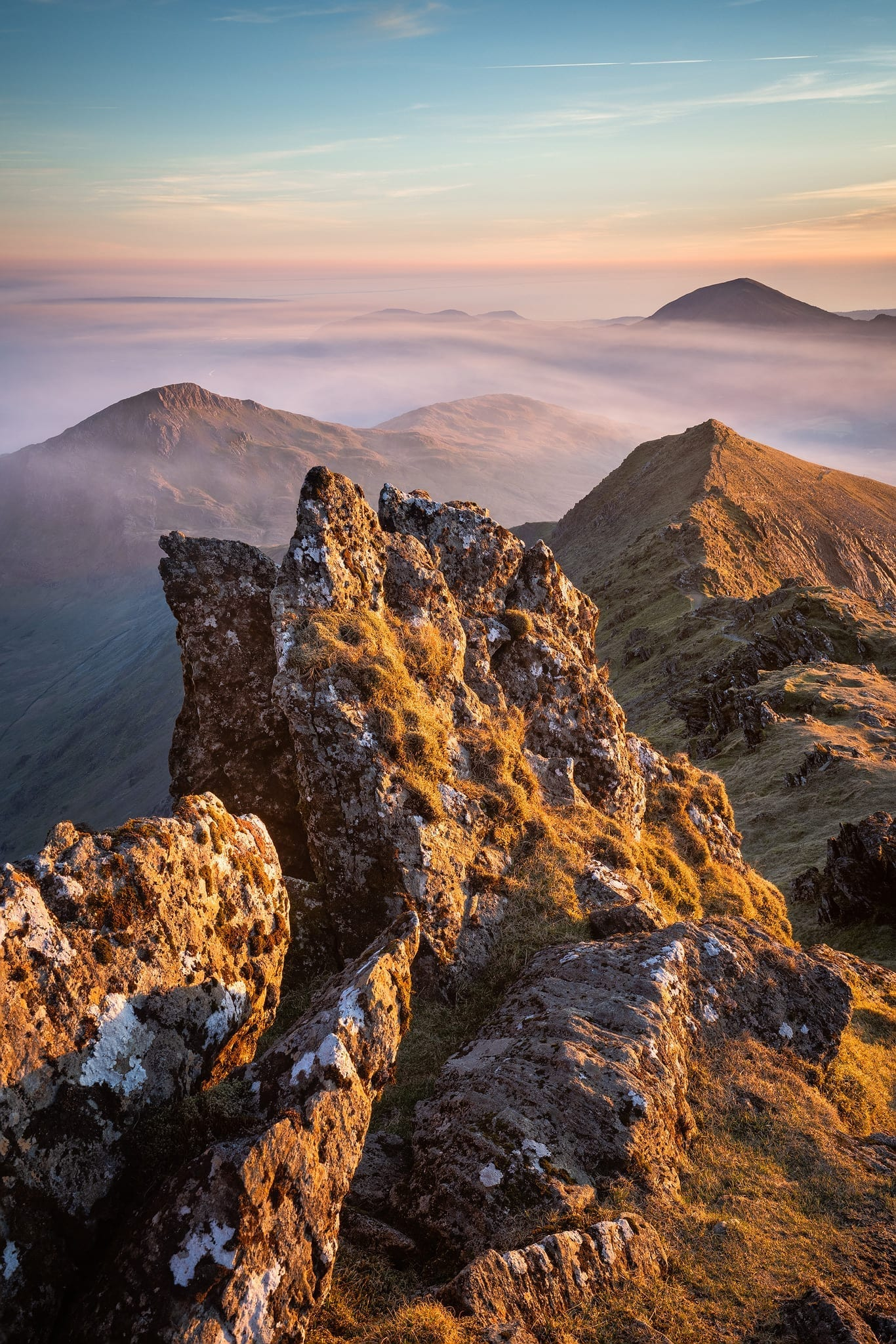Sunset from the top of Wales - Snowdonia Landscape Photography