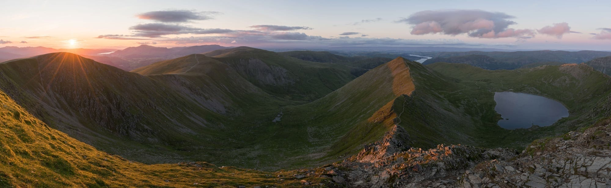 Swirral Edge Sunset - Helvellyn Sunset - Lake District Photography