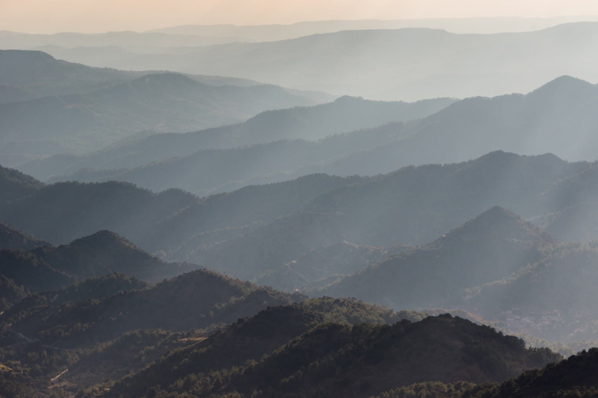 Troodos Mountain Layers - Cyprus Photography