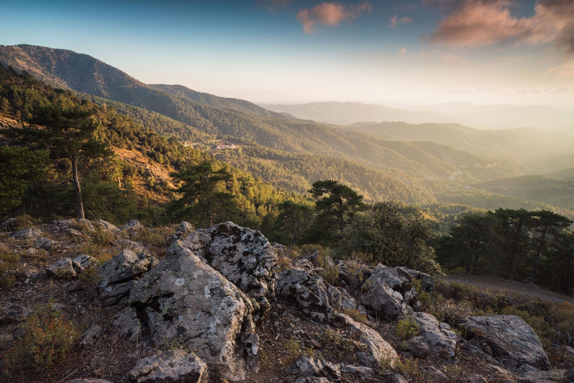 Troodos Mountains Sunset - Cyprus Photography