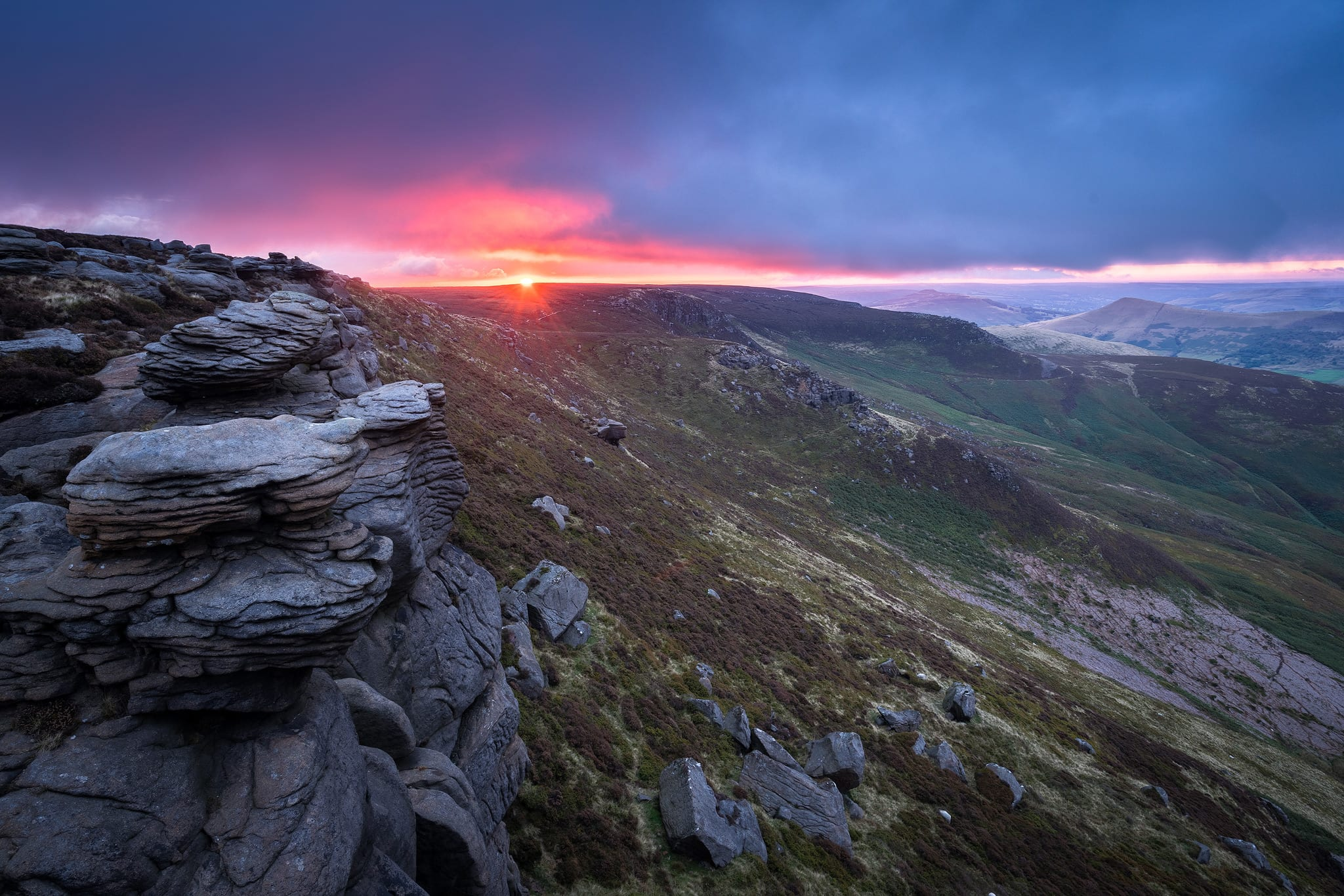 Upper Tor Sunrise - Peak District Photography