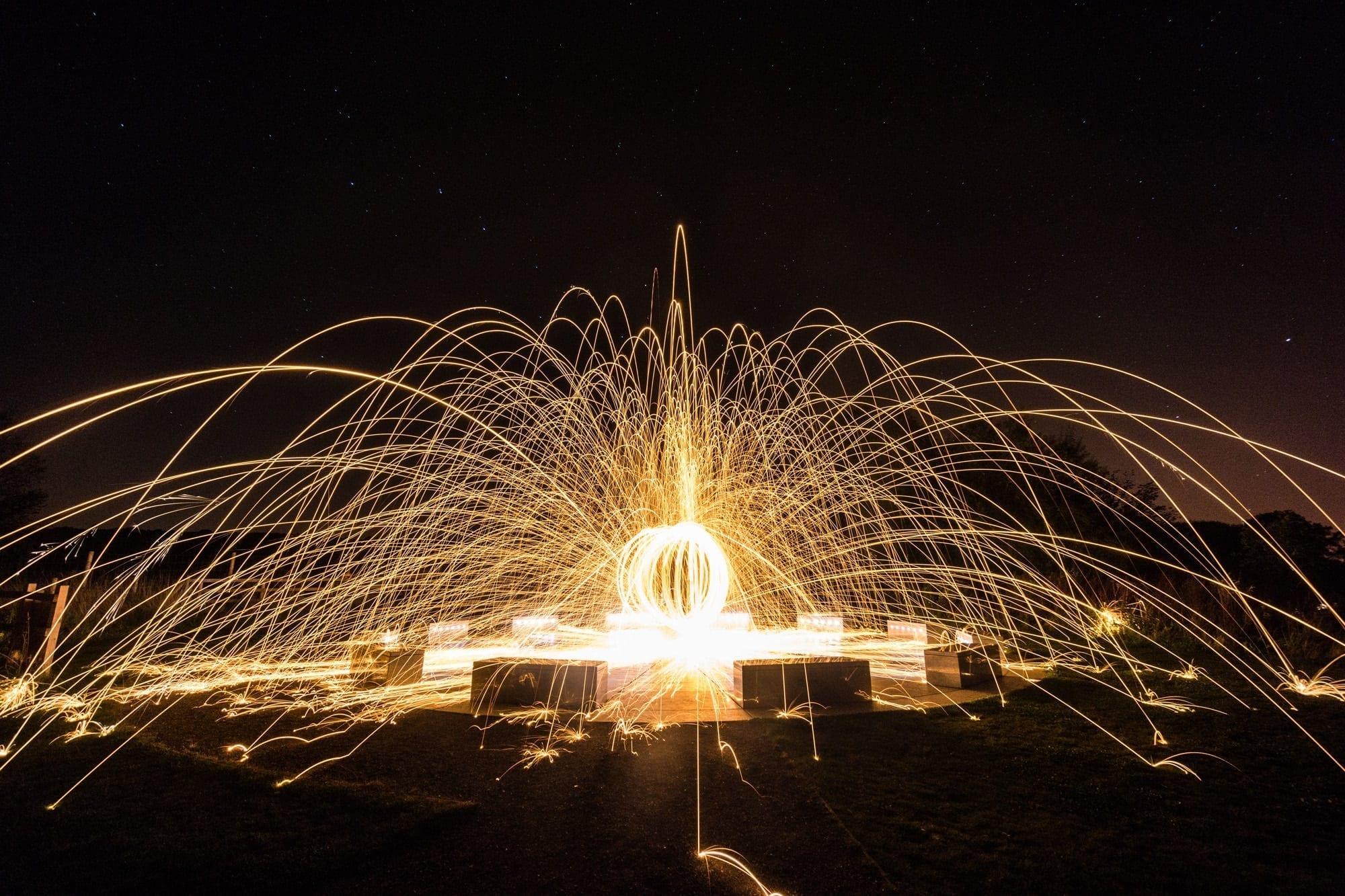 Wirksworth Star Disc Fireball  - Peak District Photography