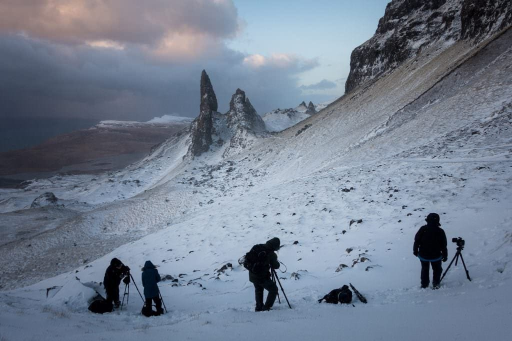 Old Man of Storr Winter Sunrise - Scotland Photography Workshops