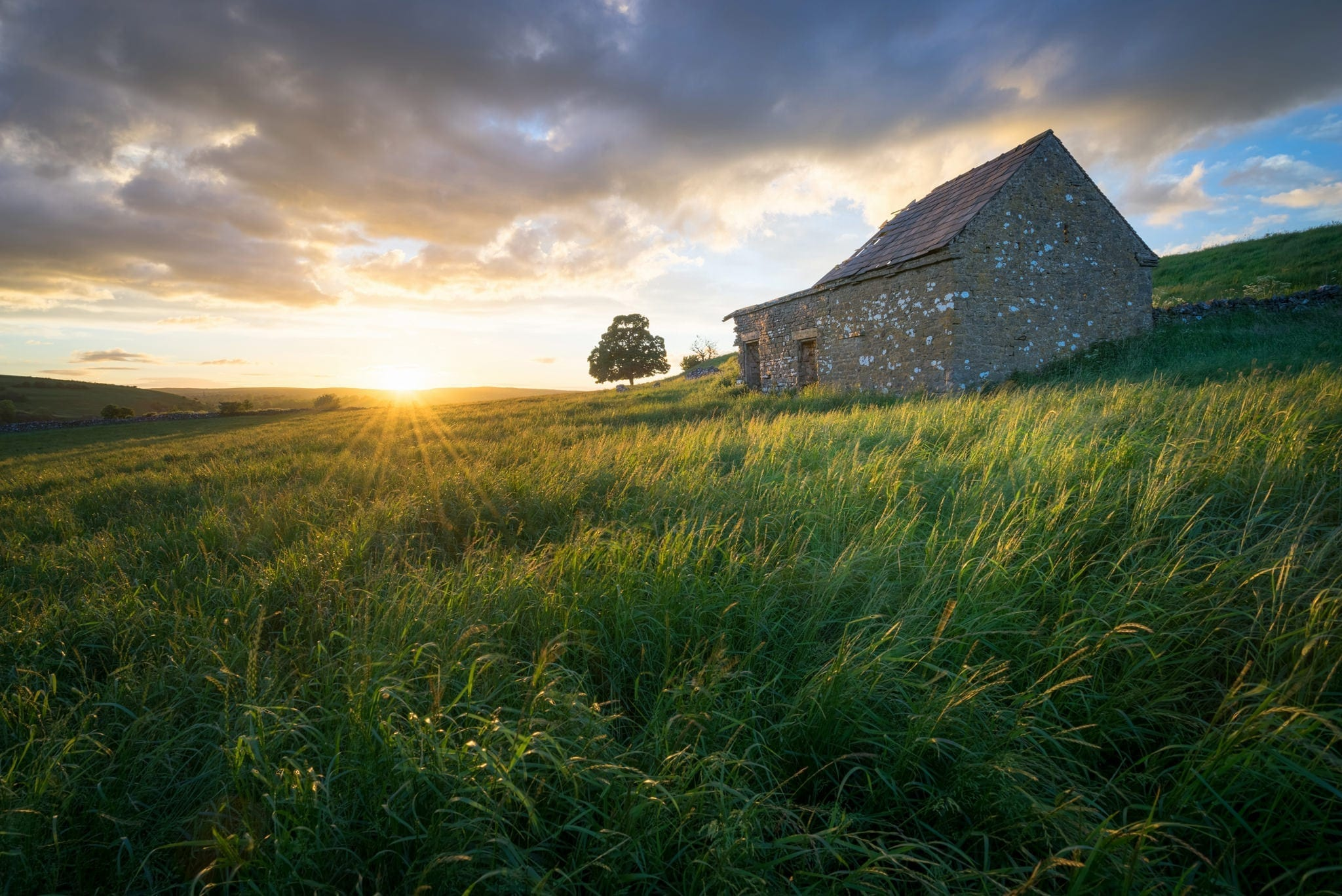 Wetton Barn Sunset- South Peak District Limestone Photography Workshop