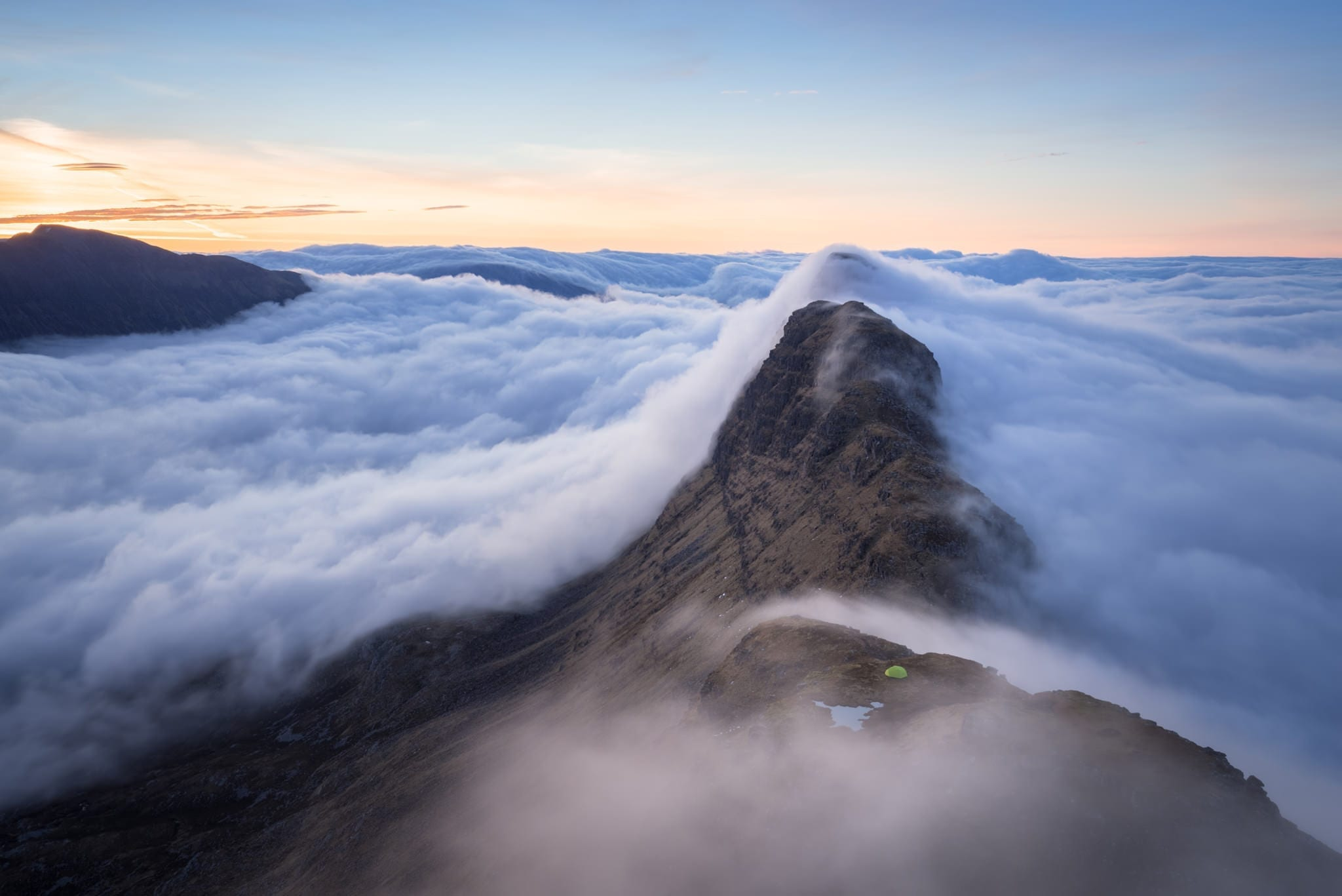 Suilven Sunrise Wild Camping Inversion - Scotland Photography Wild Camping Workshop
