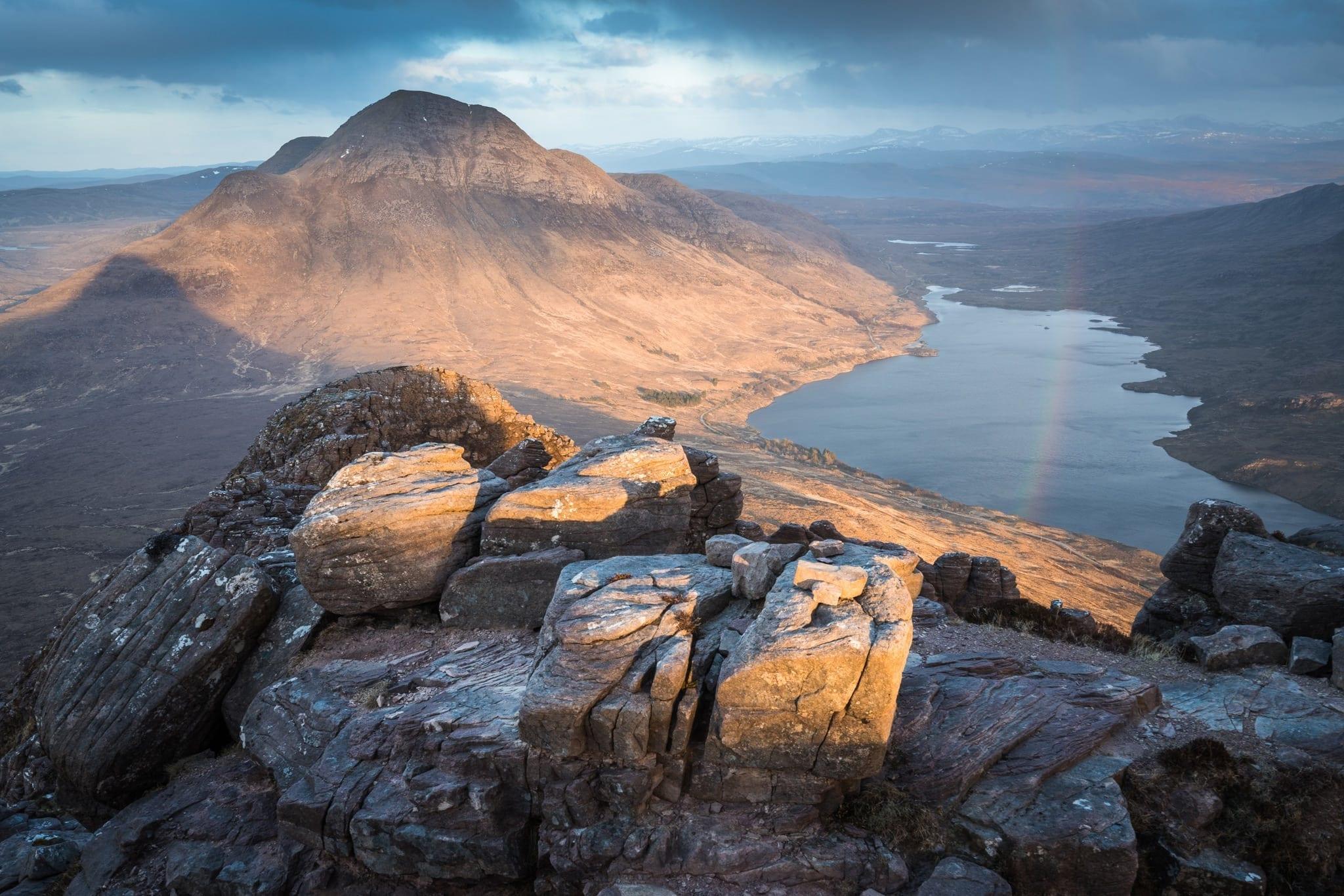 Stac Polliadh Rainbow - Scotland Photography