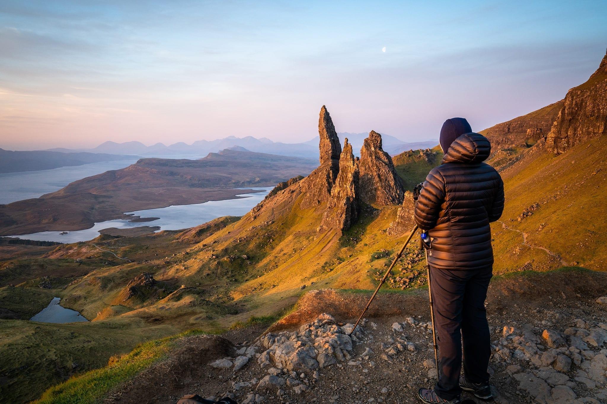 Photographer Capturing The Sunrise on my Isle of Skye Photography Workshop Tour