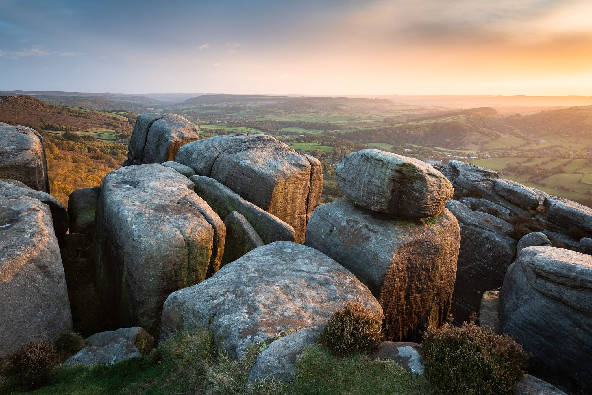 Froggatt Edge Autumnal - Peak District Photography