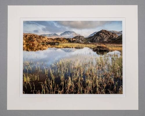Snow White Mounted Lake District Print