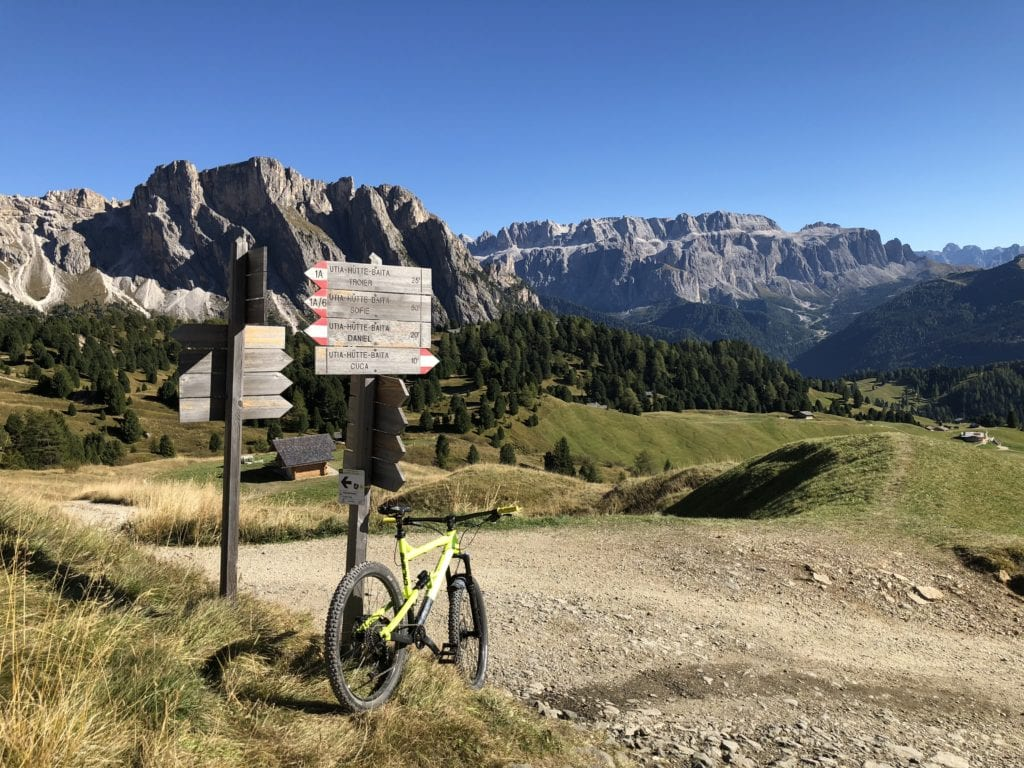 Seceda Mountain Biking in the Dolomites