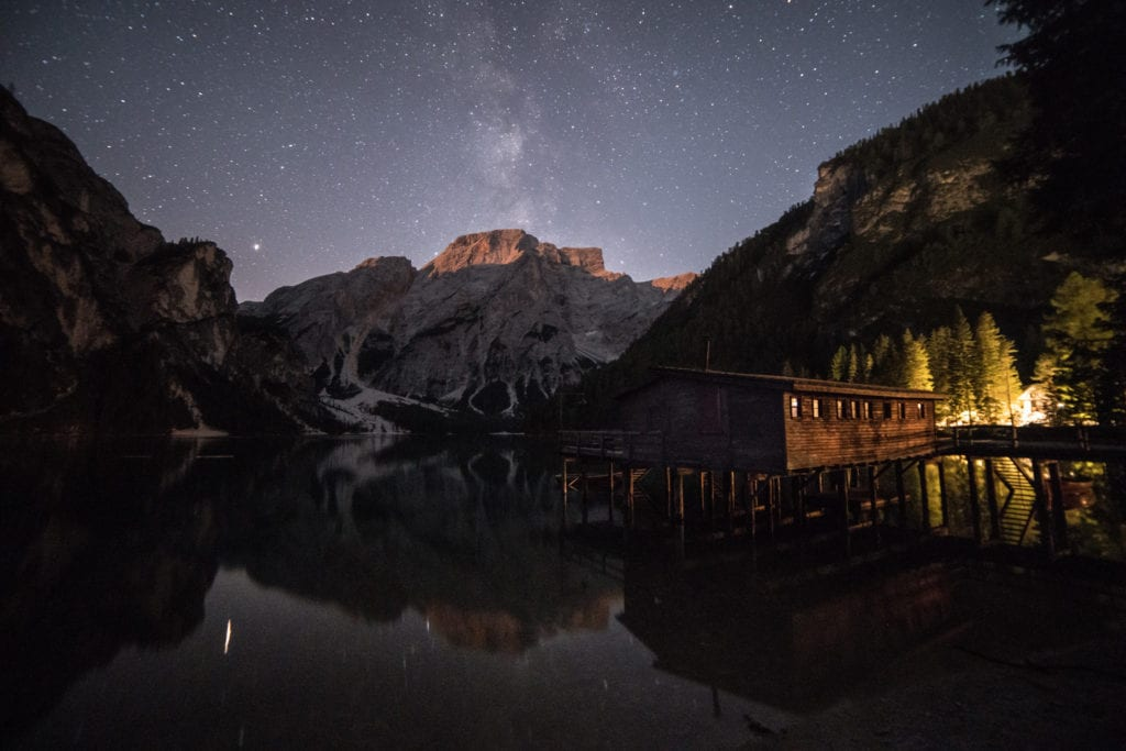 Lago Di Brais Milky Way - Italian Dolomites Photography