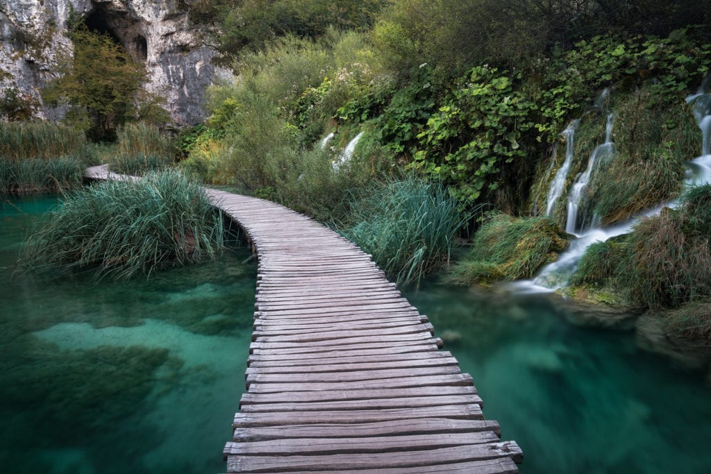 Plitvice Waterfalls Boardwalk - Croatia Photography